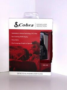 Cobra RAD450 Radar And Laser Detector - New - Free Shipping