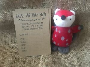 Baby Shower Guess the Baby Food Game, Activity, extra card pack x10 cards