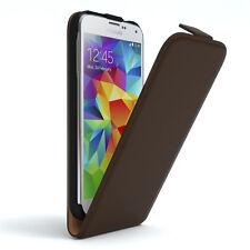 Tasche für Samsung Galaxy S5 / Neo Flip Case Schutz Hülle Handy Cover Braun