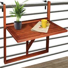 Mesa plegable de balcón de madera de acacia mesita abatible exterior 64x45x87cm
