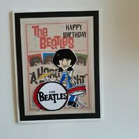 BEATLES HAPPY BIRTHDAY GREETING CARD