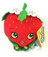 "New Shopkins Strawberry Kiss Red Plush 6"" Soft Plush gift girls Licensed NWT"