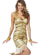 Womens Sexy Vegas Showgirl Burlesque Exotic Fancy Dress Halloween Costume