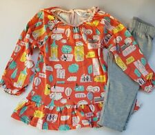 BODEN 2 PIECE PLAY SET AFTERNOON TEA OR WALK IN THE PARK TUNIC & LEGGINGS NEW