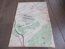 GRAND PLAN MANUSCRIT 1890 BUXIERES BOIS DE HARL METZ MOSELLE