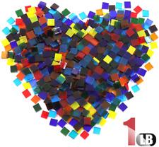 Hilitchi 1lb Assorted Transparent Glass Mosaic Tiles Mixed Color Mosaic Glass Pi