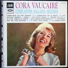 CORA VAUCAIRE DISQUE DEDICACE RARE 1967 33T LP BIEM PATHE PTX 40.226 NEUF MINT