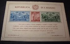"San Marino  Souvenir Sheet Scott# 239  ""Hammermill Bond"" 1945 MNH  C365"