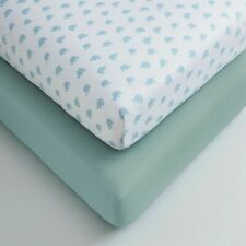 Cuddles & Cribs 2 Pack 200 Thread 100% Organic Cotton Fitted Crib Sheet Set