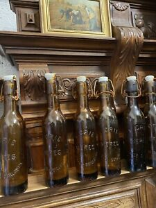 French Vintage Small Demi Beer Bottles