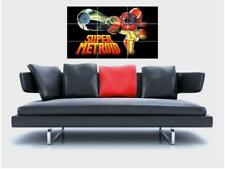 "SUPER METROID MOSAIC WALL POSTER 35"" x 23"" BORDERLESS GAMER RETRO GAMING SNES N2"