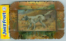 OLD ADV UNDERTAKER & FURNITURE TIP TRAY W/DOG * NOW ON SALE + FREE SHIP * AD7