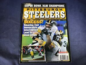 O4-73 SUPERBOWL MAGAZINE - SUPER BOWL 43 PITTSBURGH STEELERS