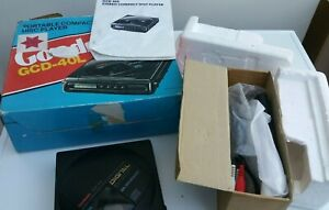 Goodmans GCD40 Portable personnel cd player boxed retro rare model READ DESCR