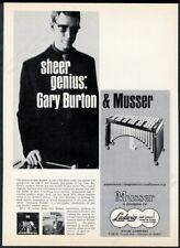 1961 Musser marimba Gary Burton photo vintage print ad