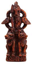 Odin Figurine - Wood Finish - Norse Asatru God Viking Rune Statue - Dryad Design
