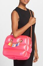 SS15 MOSCHINO Couture X Jeremy Scott Inflatable Pink Barbie Shoulder Bag CHARMS