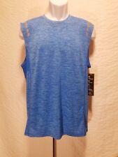 New Ideology Men Size M & Xxxl Blue Training Muscle T Shirt Reflective Tank Top