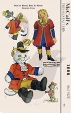 Reproduction Vintage Puss in Boots, King & Mouse Sewing Pattern M1666