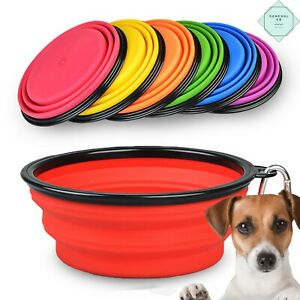 Cat Dog Bowl Food Water Foldable Feeding Silicone Collapsible Portable Travel
