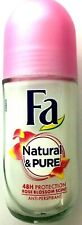 Fa Deodorant Natural & Pure Rose Blossom Anti-perspirant 48H Protection 50ml