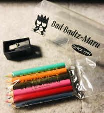 Vintage Sanrio Badtz Maru Mini Colored Pencil Kit w/Sharpener 1996