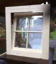 Holzfenster Sprossenfenster Gartenhausfenster 62 x 62 cm Kippfenster ++NEU++