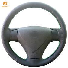 Black Leather Steering Wheel Cover for Kia Rio 2005-2009 Hyundai Accent Getz