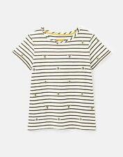 Joules Womens 211411 Lightweight Jersey T-Shirt - Khaki Bee Stripe