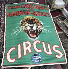 HUGE RINGLING BROS. BARNUM & BAILEY ORIGINAL CIRCUS POSTER WITH WATERMARK C-1930