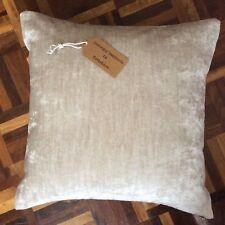 "New 16""x16"" cushion cover hand made Made Marks & Spencer velvet fabric zip fast"