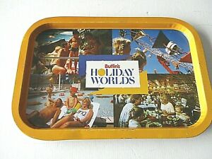 BUTLIN'S HOLIDAY WORLDS VINTAGE SOUVENIR METAL TRAY