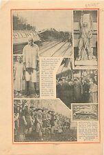 Déraillement Marcheprime Gironde Train Rapide Pyrénées Cote- 1935 ILLUSTRATION