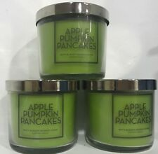3 BATH & BODY WORKS HOME APPLE PUMPKIN PANCAKES 4 OZ SCENTED CANDLE NEW