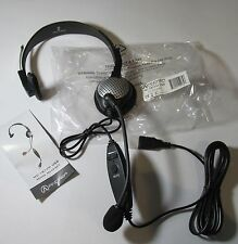 ANDREA NC-181VM USB MONAURAL PC/ COMPUTER/ GAMING HEADSET W/ MIC & VOLUME CONT.
