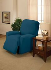 Madison JER-LGRECL-CB Stretch Jersey Large Recliner Slipcover Colbalt - Blue