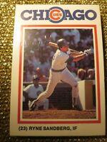 Chicago Cubs 1986 MJ Gatorade Team Issued Set Ryne Sandberg Sealed Set
