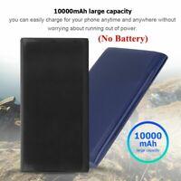 10000mAh Dual USB Power Bank Case Outdoor External Backup Battery Charger Box