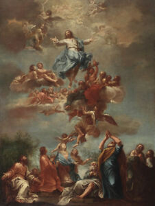 Handmade Oil Painting repro  Ascension of Christ with flying angels