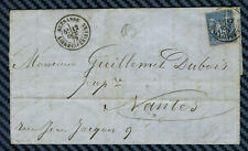 Sage YT#90 s/lettre de GUÉRANDE (Loire inf.) - Boite rurale de MESQUER - 1879