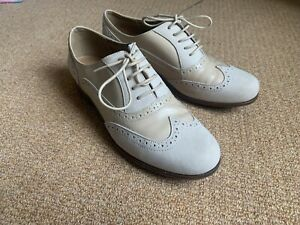 Clarks Brogues Size 5 D Nude Leather Softwear Lace Up Casual Shoes Oxfords