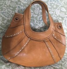 FOSSIL Fifty-Four Light Tan Leather Large Hobo Purse Bag-VERY NICE