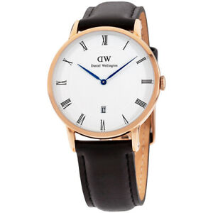 Daniel Wellington Dapper Sheffield Quartz Movement White Dial Men's Watch 1101DW