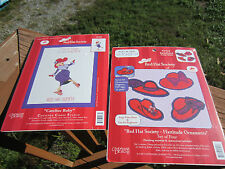 Red Hat Society Needlepoint Cross Stitch Kit 51486 Carefree Ruby 51542 Ornament