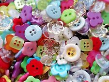 Free ship 100pcs Button Flower Round Clear Multi-color Dress Sewing Assorted