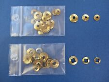 Clock HAND WASHERS Round & Square Hole BRASS - Antique Clock Parts - 3 sizes 30x