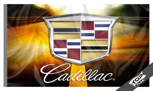 Cadillac Flag Banner 3x5 tt XTS CTS ATS STS SLS DTS  Man Cave Garage