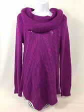 Jaclyn Smith Purple Turtle Neck Knit Sweater Size Medium