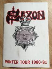 Saxon Winter Tour 1980/81UK Tour Programme