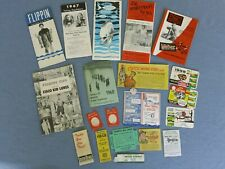 Vtg. Fishing Regulations-Pamphlets-Web er-Cisco Kid Lures-Heddon-Fishing Memora.